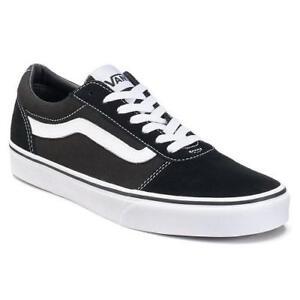 88775001c01bf9 VANS Ward Low Women s Sneakers Black+White Athletic Skate Casual ...
