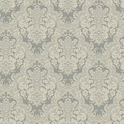 York Wallcoverings Silver Cream Tan Grey Victorian Vintage Damask Wallpaper Diy