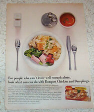 1973 ad page - Banquet frozen Chicken Dumplings supper dinner foods ADVERTISING