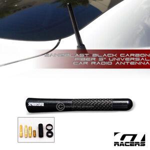 "5/"" Stubby Carbon Fiber Aluminum Auto Car Short Antenna Red Universal Screws Vb"