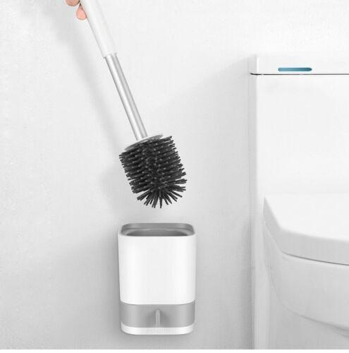 Silikon WC-Bürste Garnitur Toilettenbürste Klobürste Bürstengarnitur mit Halter
