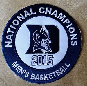 DUKE-BLUE-DEVILS-Mens-Basketball-2015-National-Champions-Team-Logo-Iron-on-PATCH