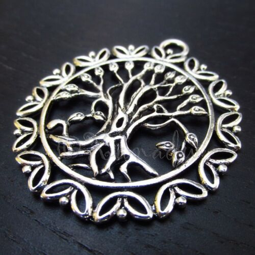 2 Or 5PCs Tree Of Life 51mm Antiqued Silver Plated Necklace Pendant C0419-1