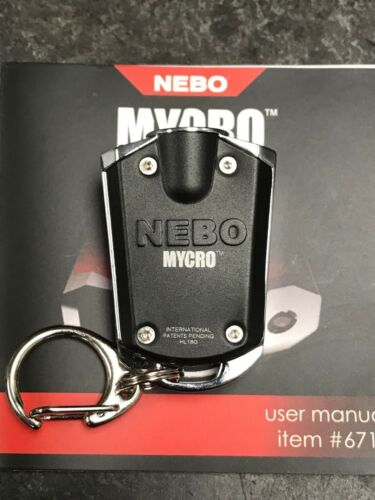 *NEW* NEBO MYCRO 400 LUMEN RECHARGEABLE POCKET LIGHT W// CHARGE CABLE NECKLACE /&