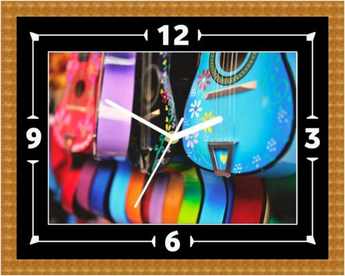 02 Acoustic Guitar Clock Gift Present Christmas Birthday Can Be Personalised