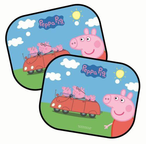 Set di due Per Bambini Peppa Pig Finestra Auto Sun Shades con Car Design
