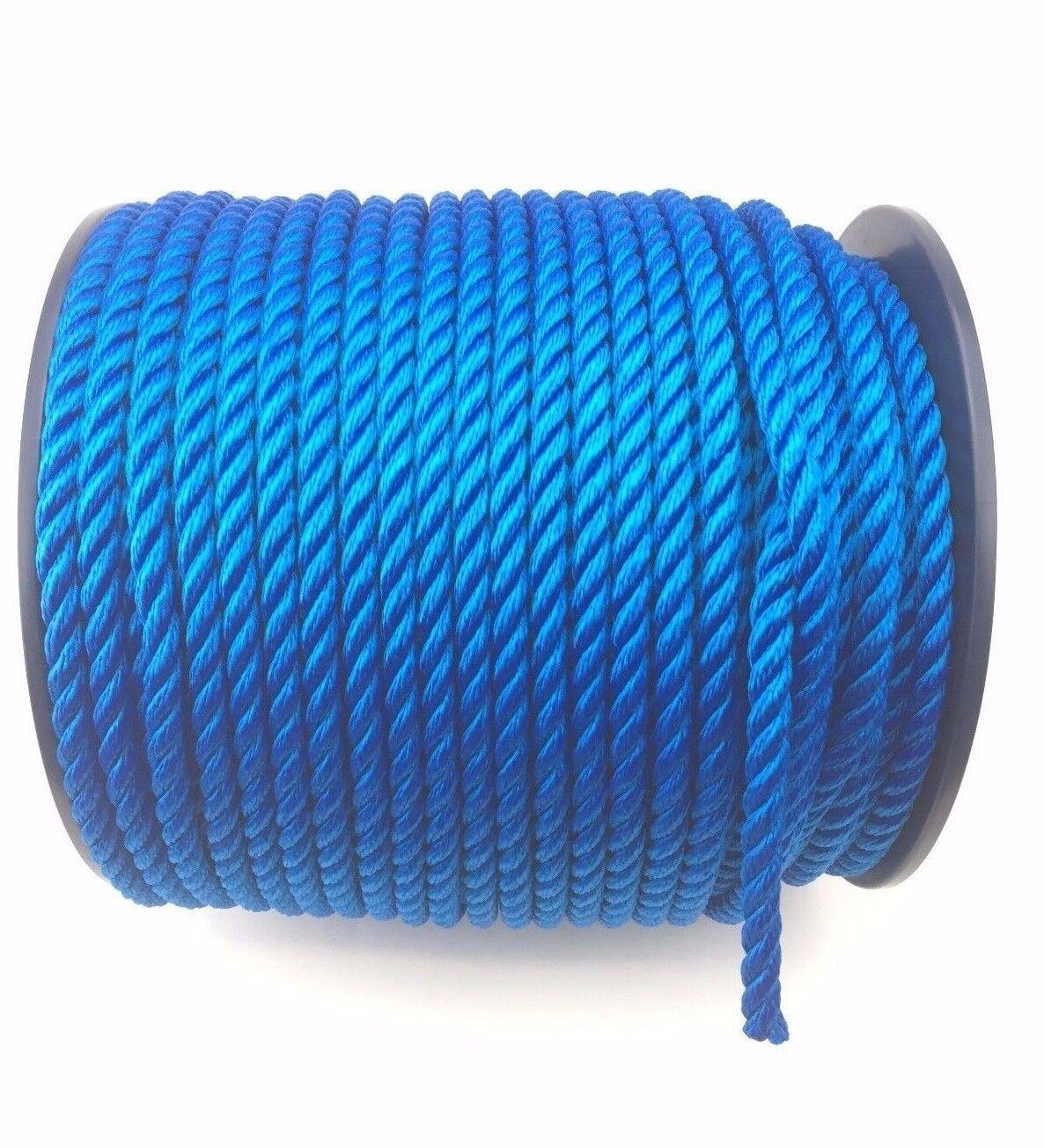 10mm Royal bluee Mooring Rope Softline x 220m Reel, Yachts Boats Marine Float