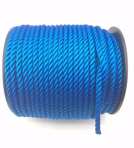 10mm Royal Blue Mooring Rope Softline x 220m Reel, Yachts Boats Marine Float