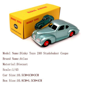 1-43-Atlas-Dinky-Toys-24O-Studebaker-Coupe-Diecast-Models-Car-Collection-Gift