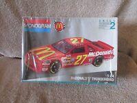 Jimmy Spencer #27 McDonalds T-bird 1 24 scale plastic model kit new Monogram Toys