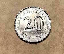 Malaysia 20 Sen Coins 1978 Key Date Coin - BU