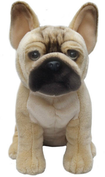 Realistic French Bulldog Cuddle Soft Plush Toy Stuffed Animal Dog