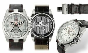 NEW Balmer 1040M Men Swiss Chronograph Veyron Collection White/Red Accents Watch