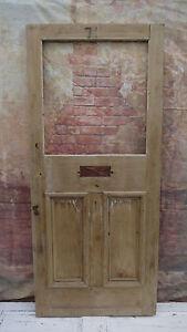 XNGL06-36-x-82-1-4-Old-External-Period-Pine-Reclaimed-Front-Door-to-Glaze