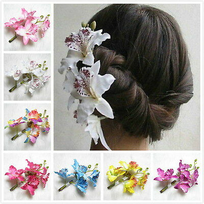 Womens Flower Hair Clip Pin Bridal Wedding Hawaii Prom Party Accessories Gifts