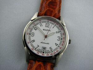 Bulova-Herren-oder-Damen-Armbanduhr-Pulsometer-NOS-Automatik-ETA-2892-2