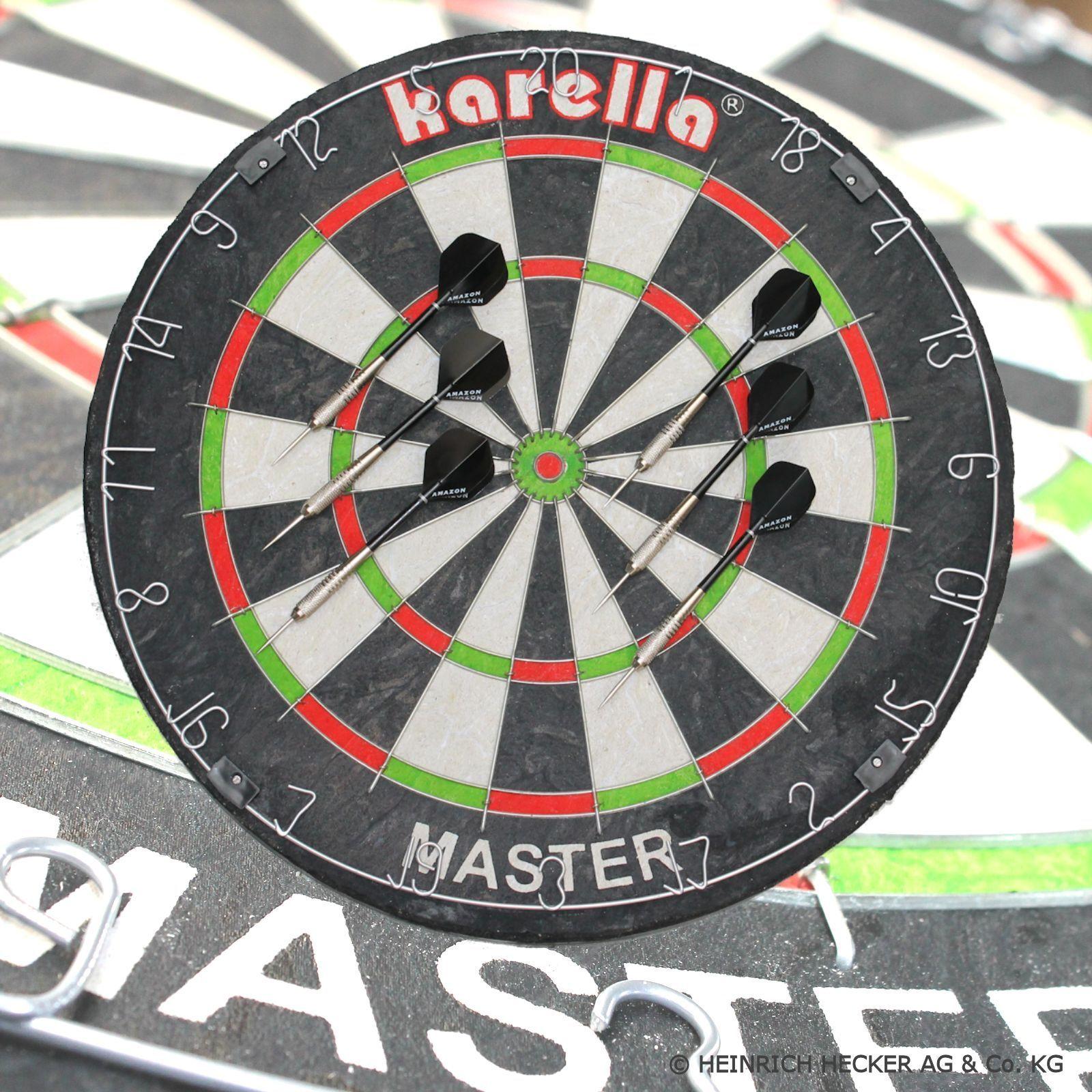Original Karella Wettkampf Dartboard  Master  + 2 Set Steeldarts  Master