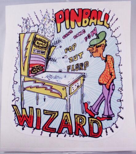 PINBALL WIZARD DECAL STICKER