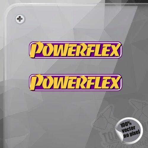 PEGATINA POWERFLEX PROGRESSION SUSPENSION DECAL STICKER AUFKLEBER AUTOCOLLANT