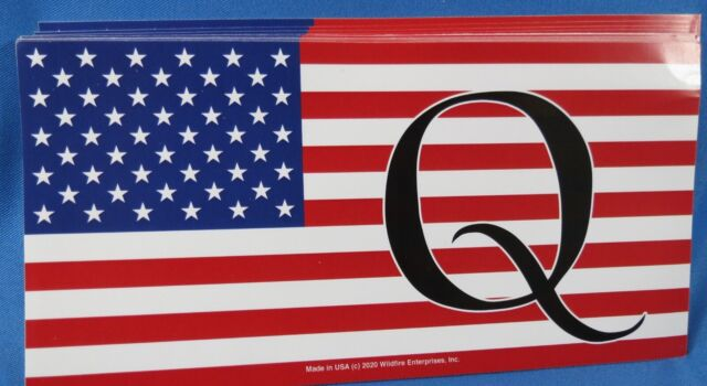 WHOLESALE LOT OF 10 Q QANON WWG1WGA STICKERS DONALD TRUMP 2020 $  GOP PRESIDENT