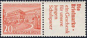 BERLIN 1952, Zusammendruck W 17, tadellos postfrisch, Mi. 95,-