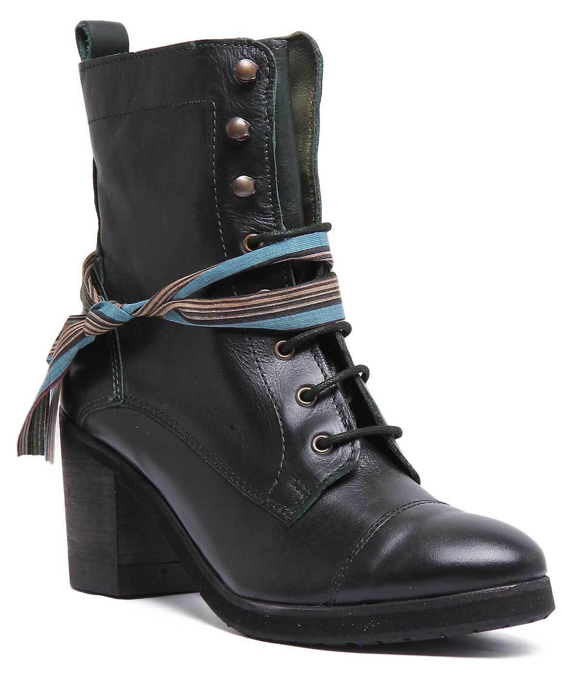 Felmini 9783 damen Grün Leather Matt Stiefel UK Größe 3 - 8