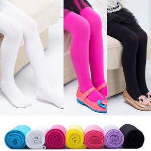 f0b98a7298fa2 Kids Girls Dance Pantyhose Pant Ballet Footed Tights Long Stockings ...
