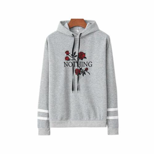 Womens Hoodies Sweatshirt Pullover Jumper Sport Gym Hooded Sweater Casual Tops