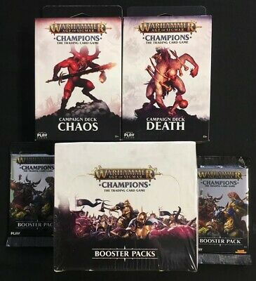 Warhammer Champions Age of Sigmar TCG CCG Booster Box Sealed 24 Packs