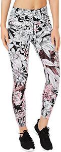 CALVIN-KLEIN-Women-039-s-Bouquet-High-Rise-7-8-Tight-Leggings-X-Small-White-Floral