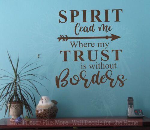 Esprit me conduire religieux Wall Decals Vinyl Lettrage Autocollants décoration citation