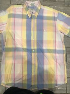 Orvis-Sporting-Traditions-Men-s-Short-Sleeve-Button-Up-Plaid-Shirt-Size-Xl