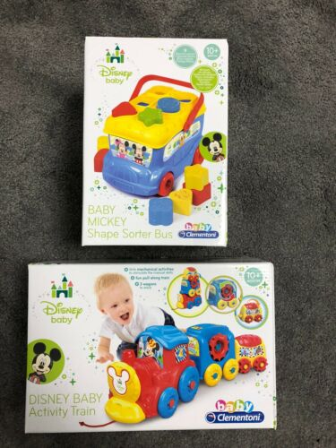 mois Baby Clementoni Disney Activity Train /& Mickey forme trieur Bus âge 10