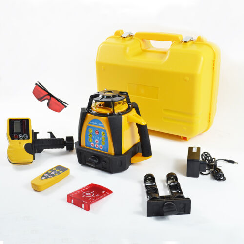 Self Auto Leveling Rotary Cross Laser Level Tripod Receiver Detector