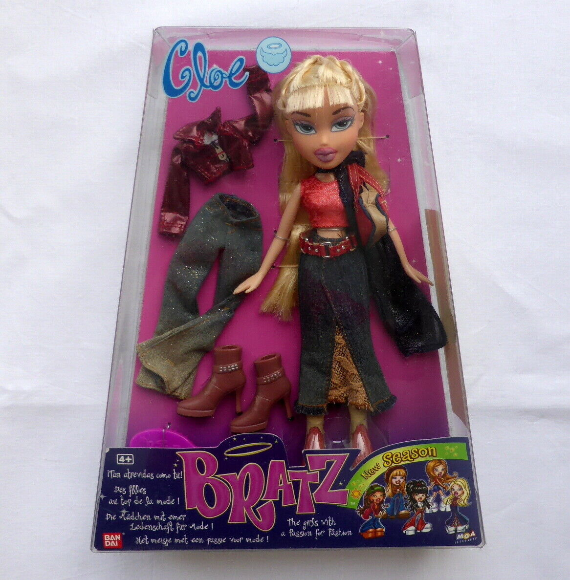 Nueva temporada Cloe Moda Muñeca Bratz 2002 Bandai