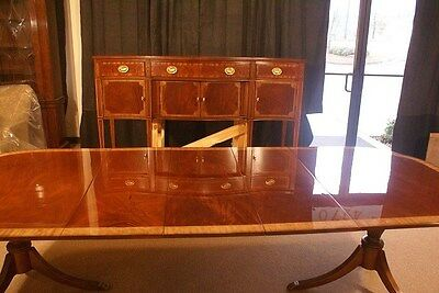 Baker Scalloped Mahogany Dinning Table Ask about $500 Discount