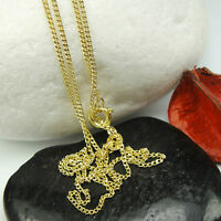 """FINELY 1,25mm SOLID CURB CHAIN 16""""-24""""GOLD CHAIN 9ct YELLOW GOLD HALLMARKED 9K"""