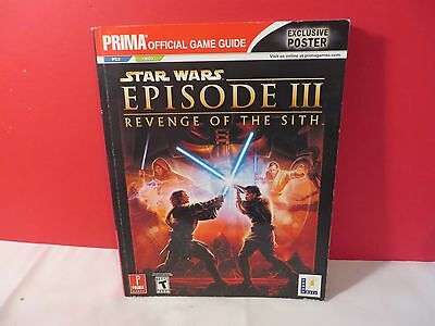 Star Wars Episode Iii Revenge The Sith Official Guide Xbox Ps2 Attached Poster 9780761551645 Ebay