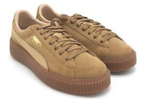 online store 0dbd7 0cb62 Details about New Women's Puma Suede Platform Core Oatmeal Brown Sneaker 6 M