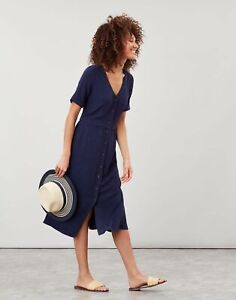 Joules Womens Jessica Short Sleeve Dress With Patch Pockets - French Navy