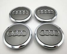 Set Of 4 272 Inch 69mm Car Rim Wheel Center Hub Caps Emblems For Audi Gray