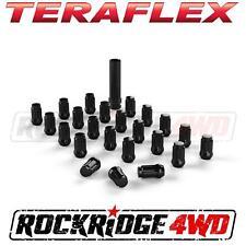 """Teraflex Spline Drive Lug Nut Kit 1/2""""x20 Black 23 pcs w/ Key Jeep JK TJ YJ CJ"""