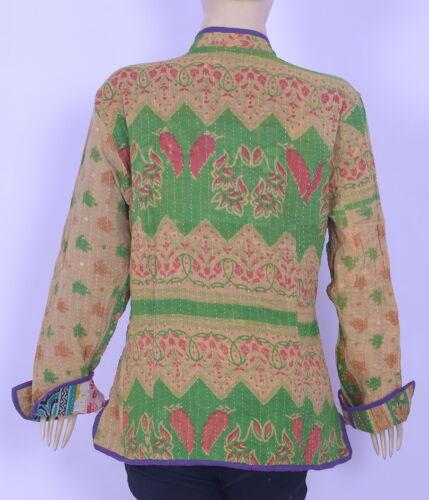 Jakke Cotton Reversible Maharaja Vintage Kantha Coat Indian Patchwork Sherwani EWCznq