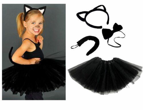 ANIMAL EARS BOW TAIL SET Book Week Costume Fancy Dress Accessory Kids Adults Kit