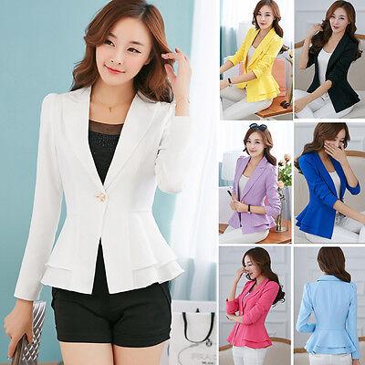 Spring Women Fashion Casual Business Blazer One Button Slim Suit Jacket Coat