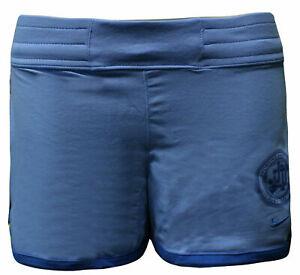 Nike Active Girls Kids Sports Training Shorts Just Do It Blue 404186 412  A12E | eBay