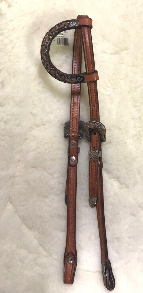 Tory Leer Lanetwerko Pewter Filigrae Show Single Ear Headstall Chestnut