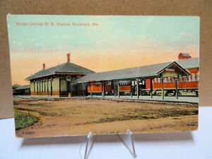 1912-Postcard-Maine-Central-Railroad-Station-Rockland-Maine
