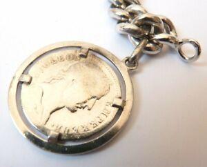 Charitable Bracelet Gourmette Argent Massif Silver Piece Médaille Napoléon 1811 46,4 G Achat SpéCial
