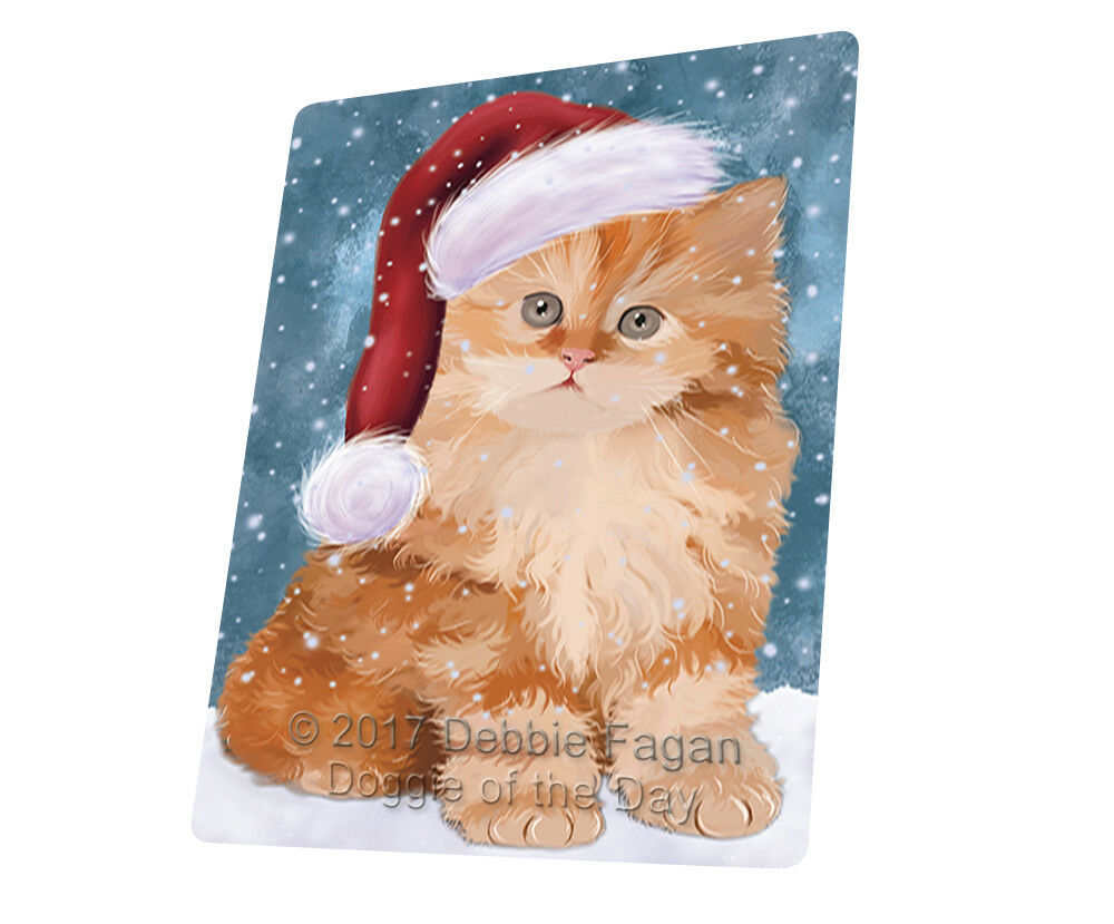 Let it Snow Christmas rosso Persian Kitten Cat Woven Throw Sherpa Blanket T255
